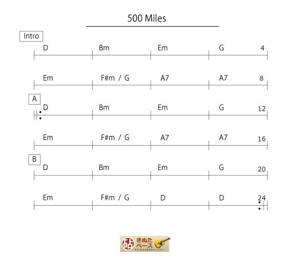500miles_コード譜-